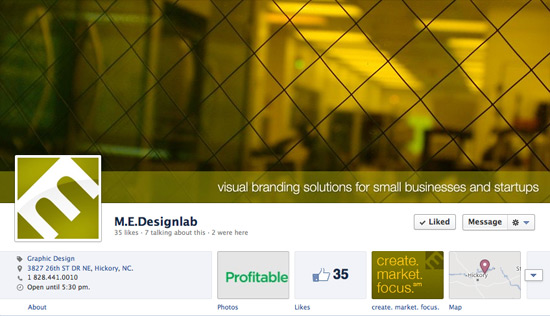 Facebook Cover Photo Branding Example