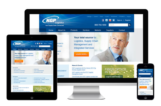 Responsive Web Design & Development for KGP Logistics