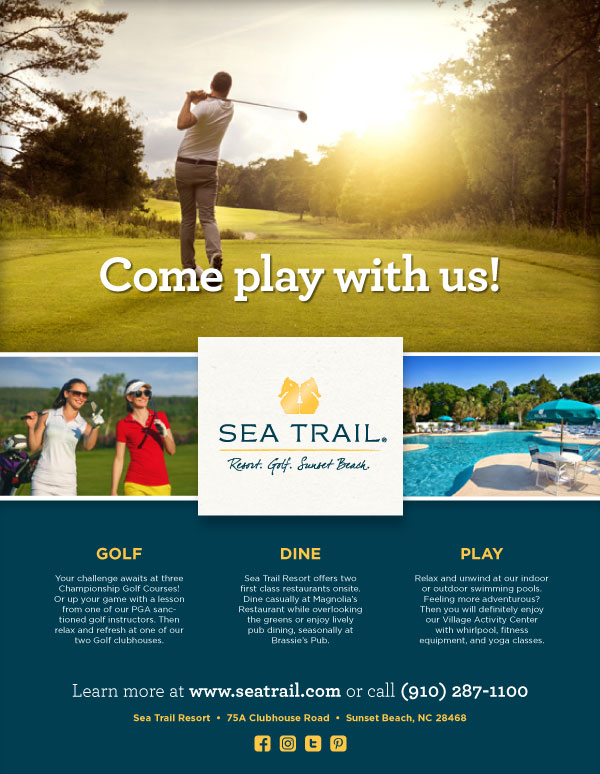 Sea Trail Advertising Design
