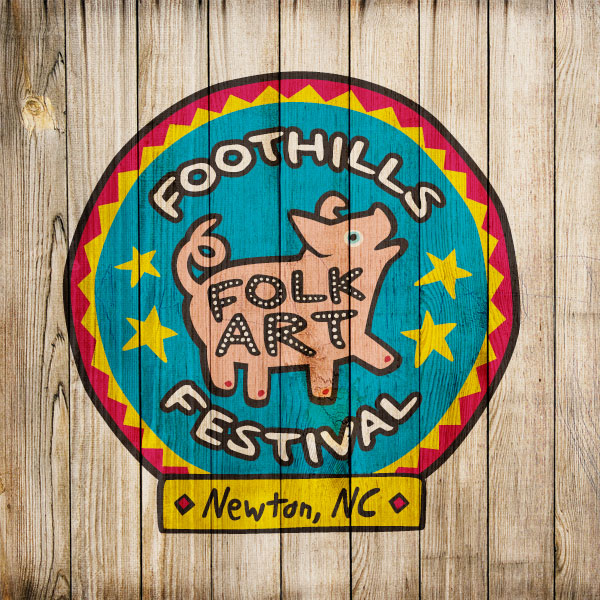 Foothills Folk Art Festival Logo Design
