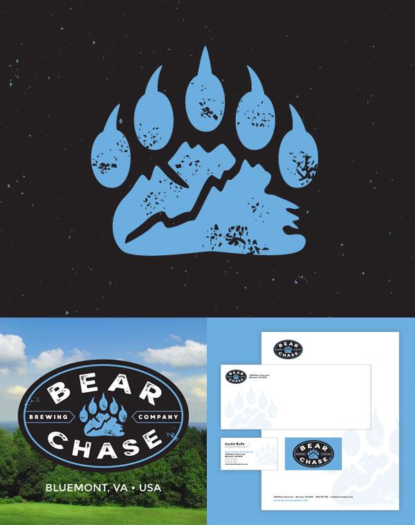bear chase logo identity design