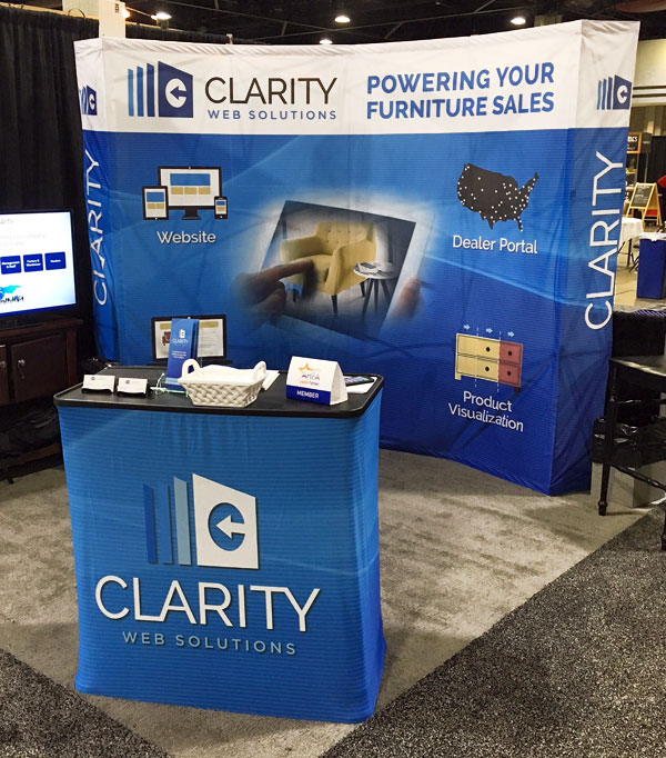 Clarity tradeshow booth design
