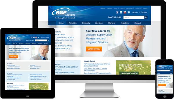 KGP Logistics Responsive Web Design