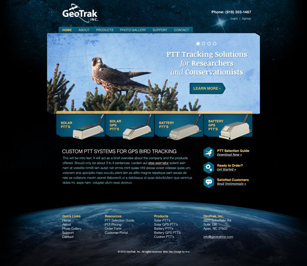 GeoTrak Web Design