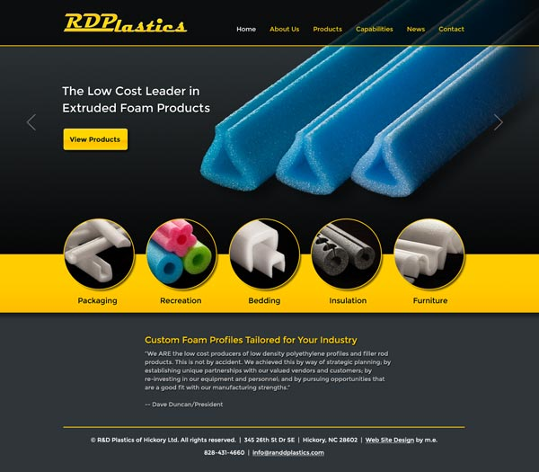 R and D Plastics Web Design