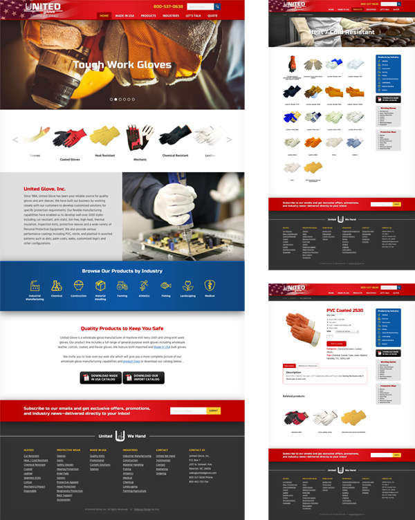 United Glove Website Design