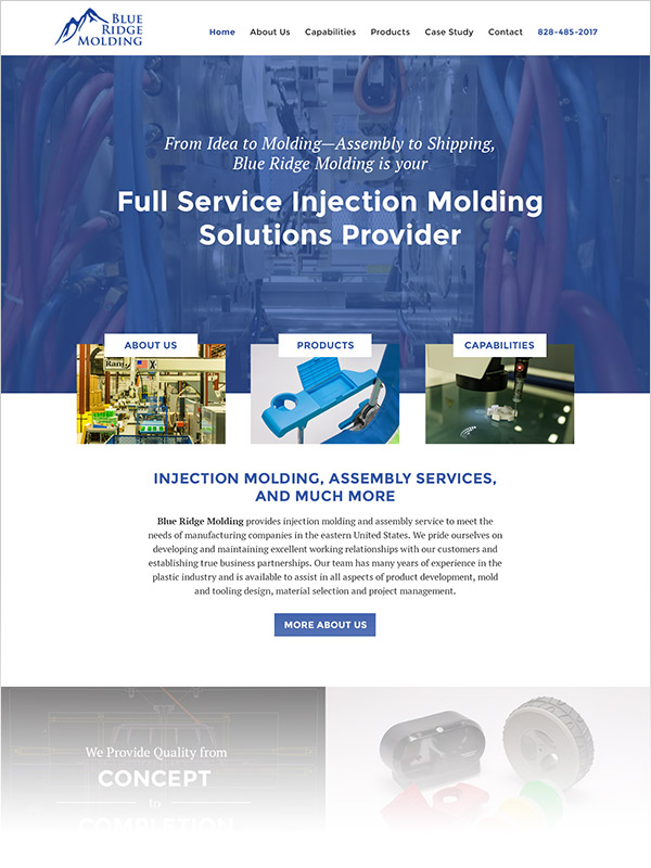 Web Design for Blue Ridge Molding