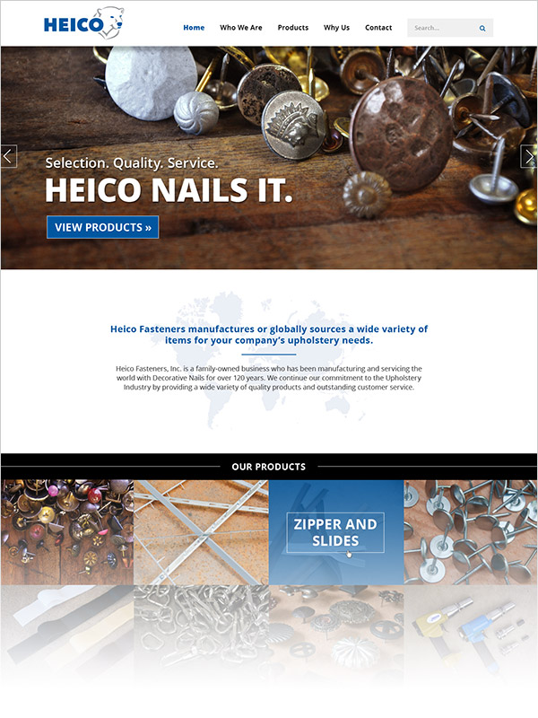 Heico Fasteners Website Design