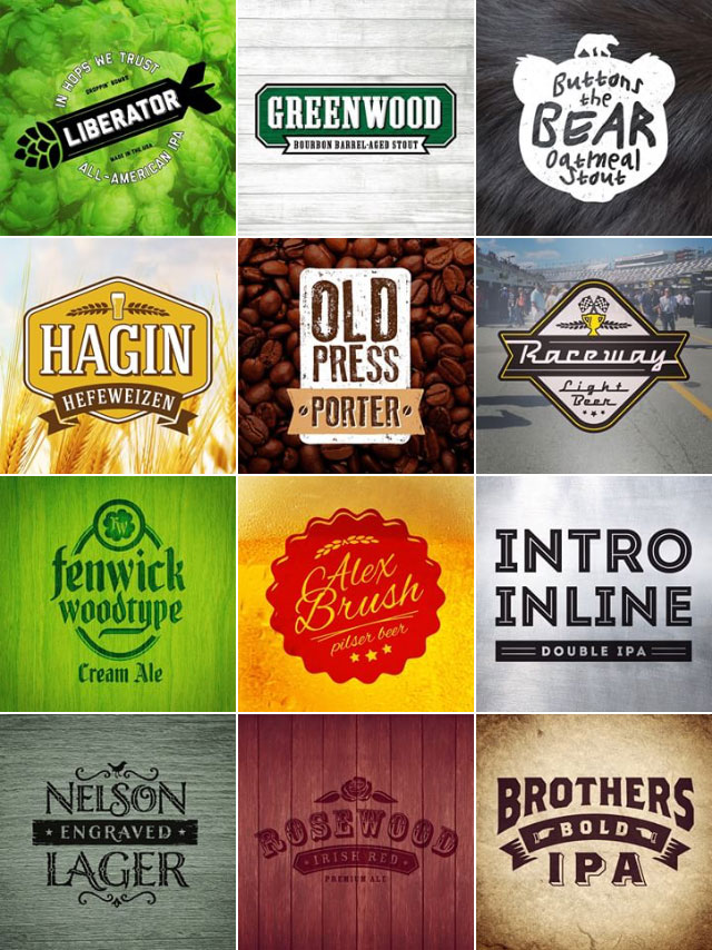 Beer Type Logos Brewery Style Logo Designs Created From Font Names