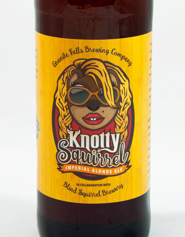 Knotty Squirrel Label Design