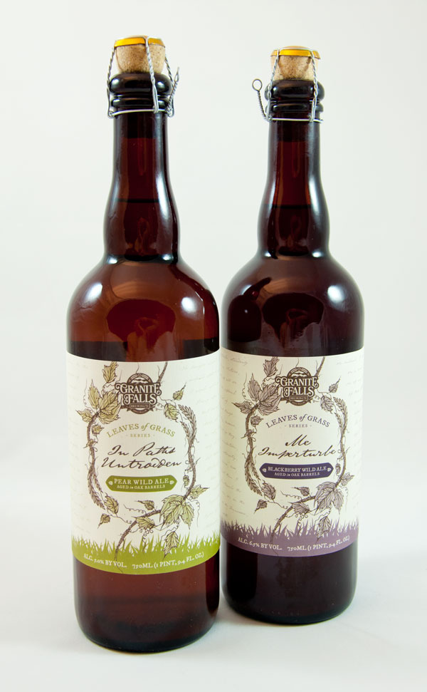 Leaves of Grass Label Design