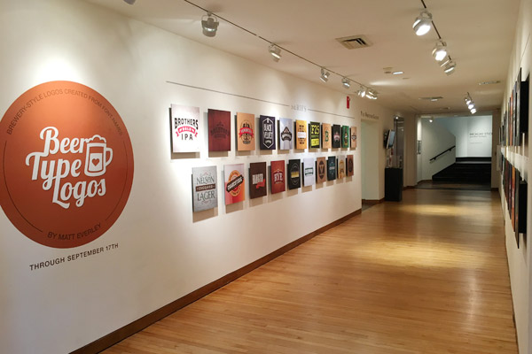 Beer-Type Logos Art Museum Exhibit